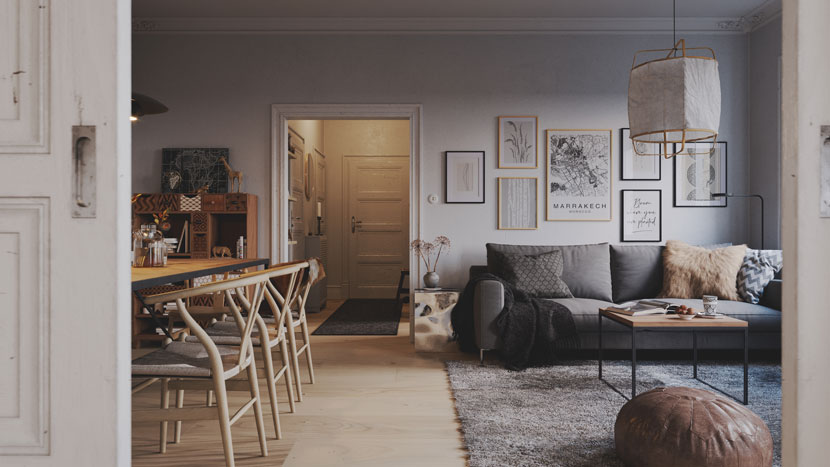 Scandinavian Interior by Artur Tamiola